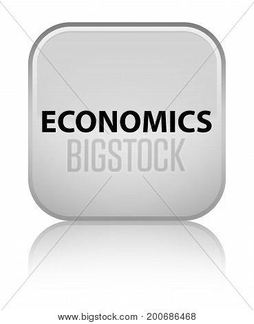 Economics Special White Square Button