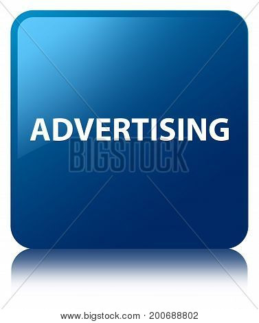 Advertising Blue Square Button