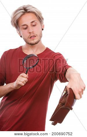 Young Man With Empty Wallet