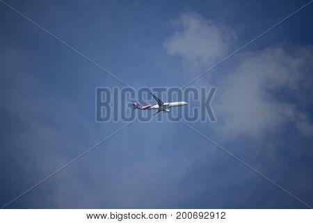 Hs-teu Airbus A330-300 Of Thaiairway Tg103