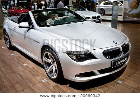 Moscow, Russia - August 25:  Grey Car Bmw 630 At Moscow International Exhibition Interauto On August
