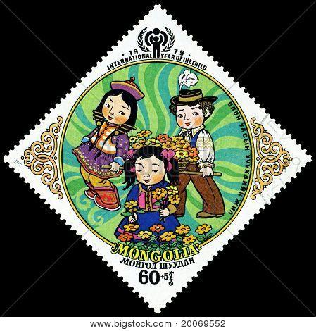 Vintage  Postage Stamp. The Children. 7.