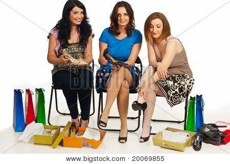 Friends Women Shopping Shoes