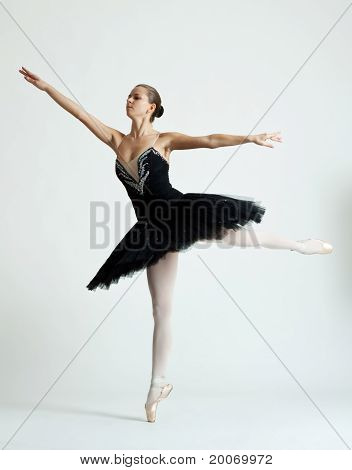 Beautiful Ballet Dancer Jumping