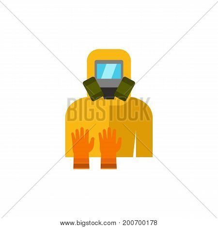Icon of pest control costume. Mask, respirator, glove. Pest control concept. Can be used for topics like protective workwear, exterminating insects, service
