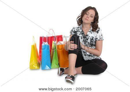 Beautiful Girlresting After Shopping