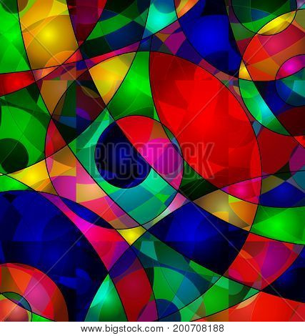 abstract colored background image consisting of lines