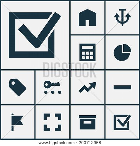 Interface Icons Set. Collection Of Target, Increase, Screenshot And Other Elements