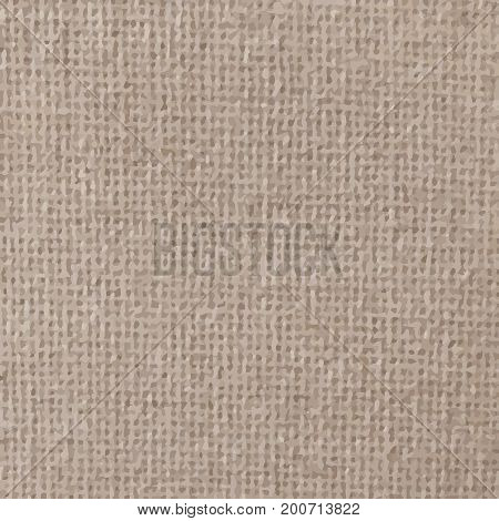 Light canvas texture. sackcloth bagging Vector illustration