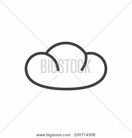 Vector Bread Element In Trendy Style.  Isolated Baguette Outline Symbol On Clean Background.