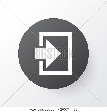 Premium Quality Isolated Entrance Element In Trendy Style.  Log In Icon Symbol.
