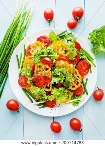 Red-yellow Tomatoes Salad