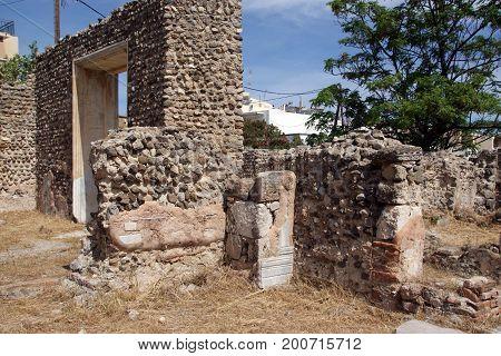Gymnasium. Excavations at KOs. The Island Of KOs. Greece.