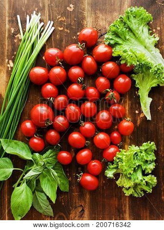 Cherry Tomatoes And Greens