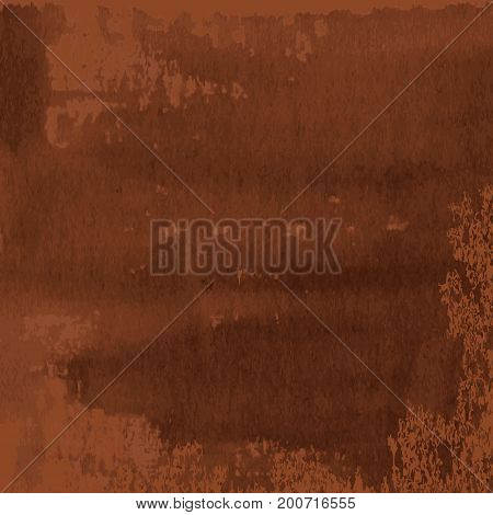 abstract texture of dark brown rusted metal corrode vector