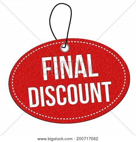 Final Discount Red Leather Price Tag