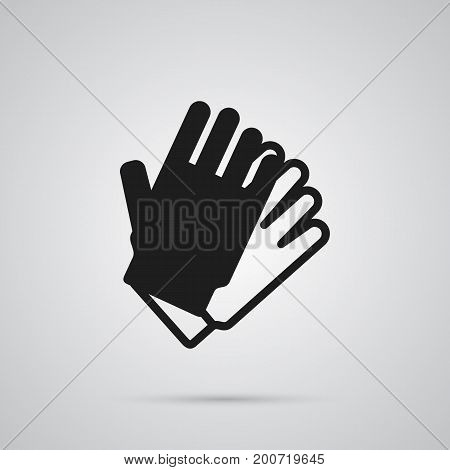 Vector Gauntlet Element In Trendy Style.  Isolated Gloves Icon Symbol On Clean Background.