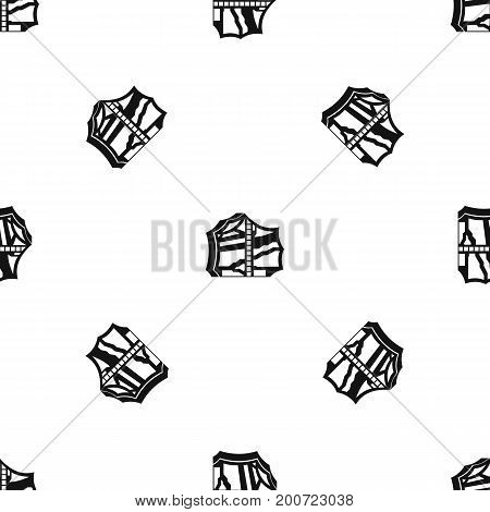 Kimchi, traditional korean food pattern repeat seamless in black color for any design. Vector geometric illustration