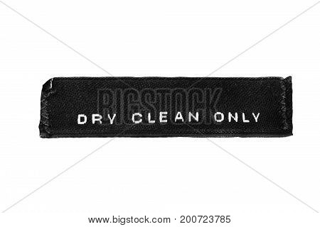Washing instructions clothes label isolated over white
