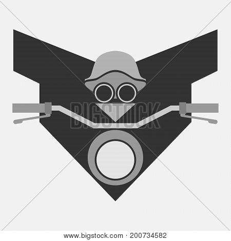 Biker concept minimal symbol or illustration. Bikers vector simple emblem