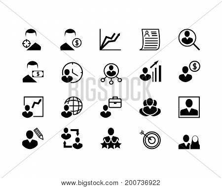 Simple Set of Head Hunting Related Vector Line Icons. Contains such Icons as Job Interview Career Path Resume and more. Editable Stroke. 48x48 Pixel Perfect