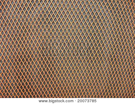 Abstract Orange Grid Surface, Closeup Plastic Background