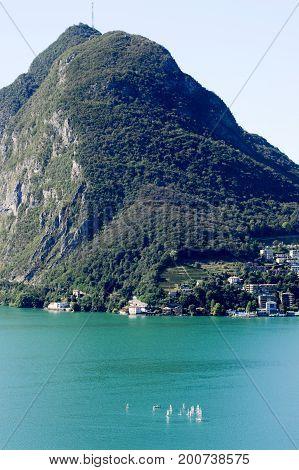 The Bay Of Lugano On Switzerland