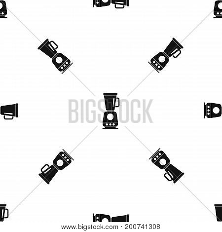 Blender pattern repeat seamless in black color for any design. Vector geometric illustration
