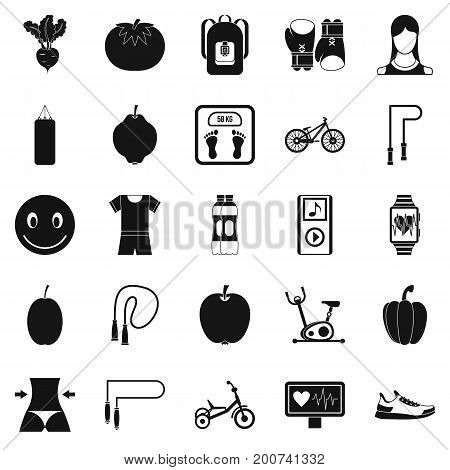 Slimming icons set. Simple set of 25 slimming vector icons for web isolated on white background