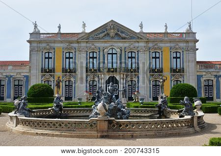 The Palace Of Queluz Is A Portuguese 18Th-century Palace Located At Queluz In Sintra Municipality Li