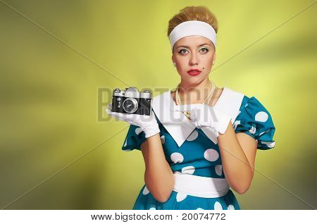 lady with a camera