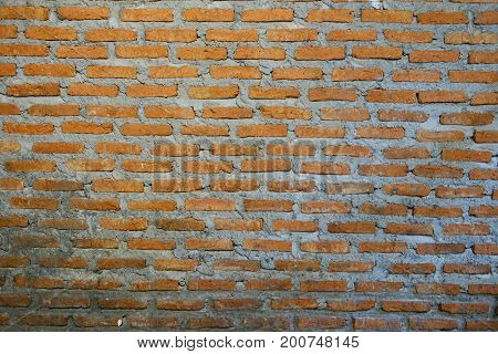 Photo of a brick wall on a building background