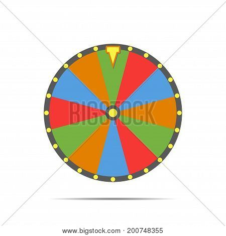 Wheel of fortune, vector illustration. Colorful fortune wheel