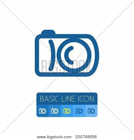 Photographer Vector Element Can Be Used For Capture, Photographer, Camera Design Concept.  Isolated Capture Outline.