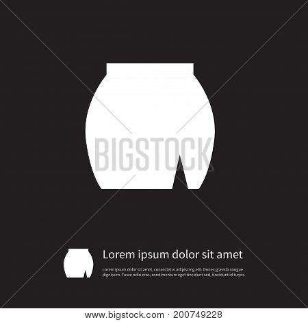 Wear Vector Element Can Be Used For Skirt, Apparel, Wear Design Concept.  Isolated Skirt Icon.