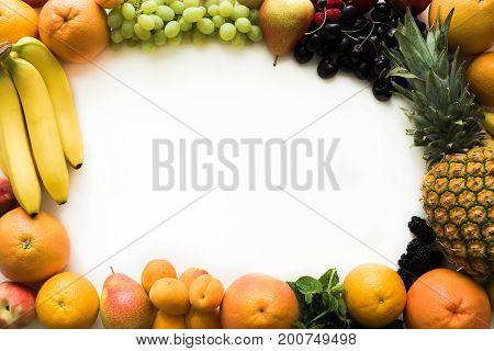 Frame Of Fresh Fruits