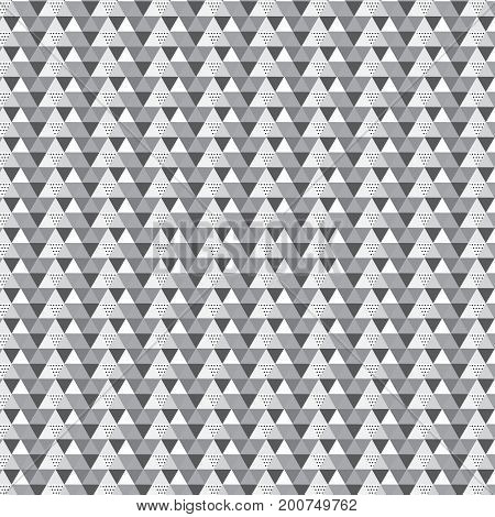 black and silver shade triangle striped with polka dot and diagonal line pattern background vector illustration image