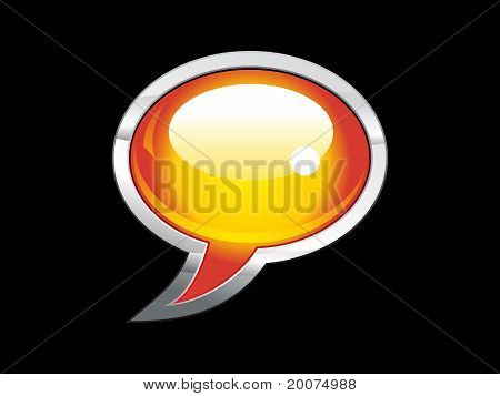 Abstract Shiny Chat Icon
