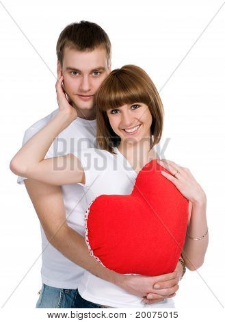 Couple with a red hear