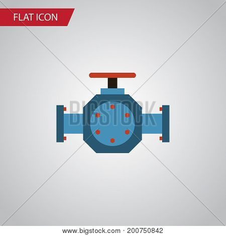 Flange Vector Element Can Be Used For Pipe, Pump, Valve Design Concept.  Isolated Pipe Pump Valve Flat Icon.