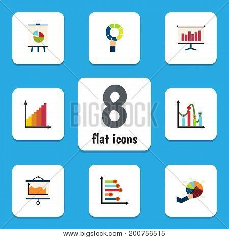 Flat Icon Chart Set Of Segment, Infographic, Monitoring And Other Vector Objects