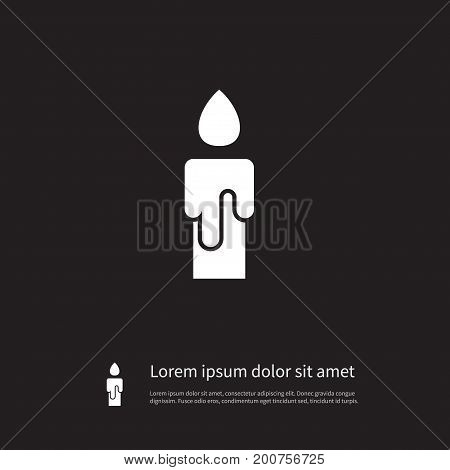 Shiny Vector Element Can Be Used For Shiny, Illuminate, Candle Design Concept.  Isolated Illuminate Icon.