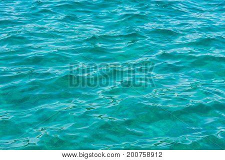 Crystal Clear Mediterranean Water Beach Ocean Closeup Texture Landscape Natural Feature