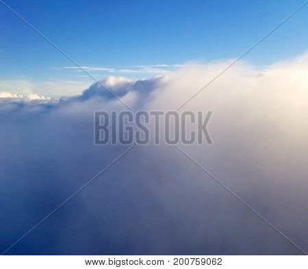 View Of Clouds On A Birght Sunny Day Of Summer Season.