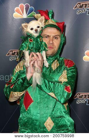 NEW YORK-SEP 9: Piff the Magic Dragon and Mr Piffles attends the America's Got Talent Season 10 Semi-finals taping at Radio City Music Hall on on September 9, 2015 in New York City.