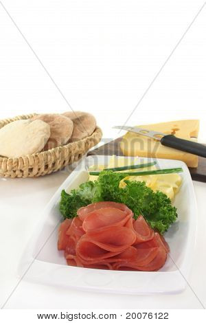 Sausage Cheese Plate