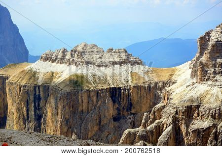 View Of The Italian Dolomites Protected By Unesco