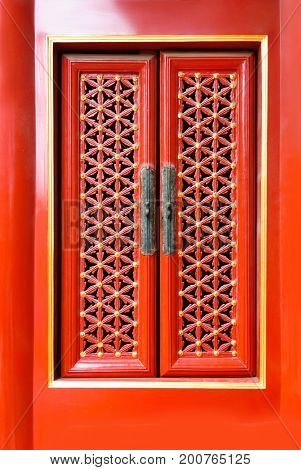 Traditioal Red Chinese Windows