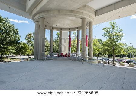 Washington DC, United States of America - August 5, 2017: Exterior shots of the Canadian Embassy