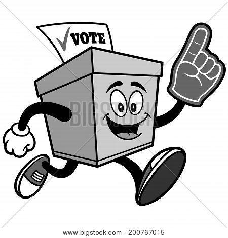 A vector illustration of a Ballot Box mascot.